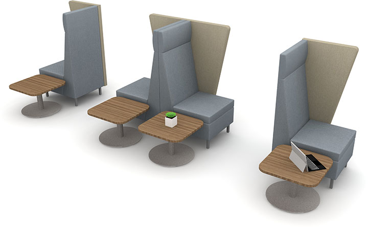 Redesigned seating configuration